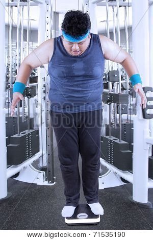 Person Measuring His Weight