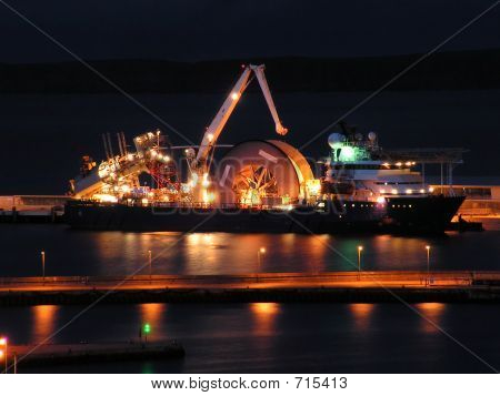 Cable Layer At Night