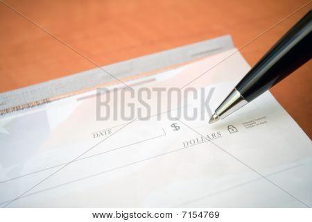 Financial Concept Check And Pen