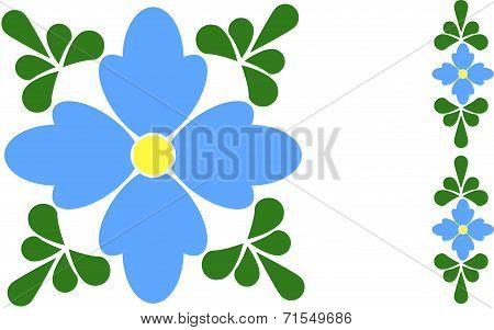 Forget-me-not Flower Tile
