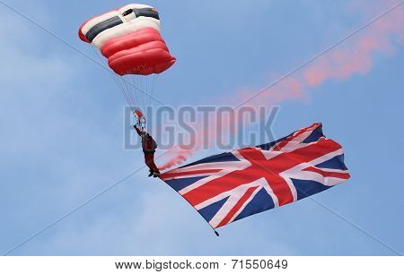 The Parachute Regiment's Red Devils parachute display team