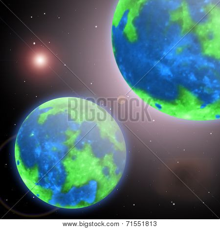 Planet earth and her twin in the infinite universe
