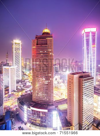 prosperous urban cityscape in the night