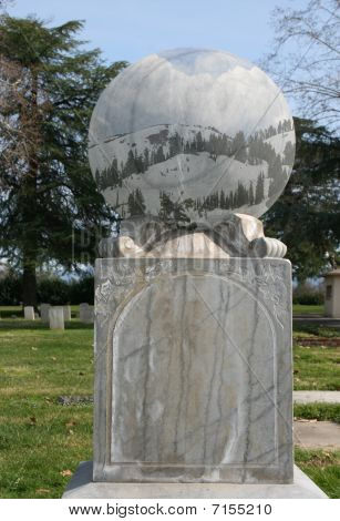 Mountain cemetery gazing ball