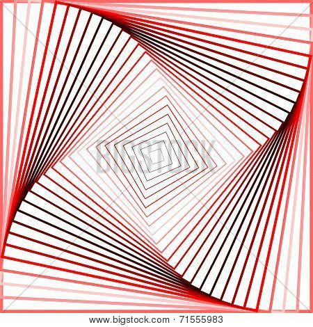 Design Colorful Twirl Movement Illusion Background
