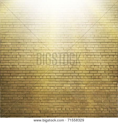 Abstract brick background.  blurry light effects