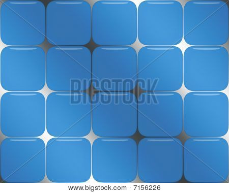 Blue Glass Box Background
