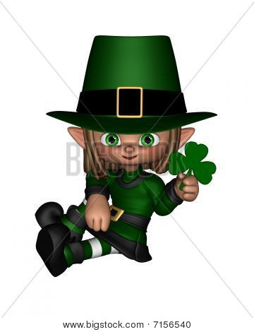 Cute Toon Irish Leprechaun - 1