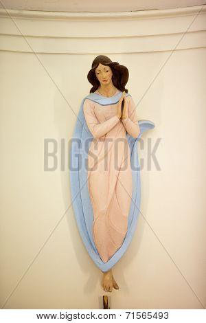 Cute Little Woman In Dress Statue