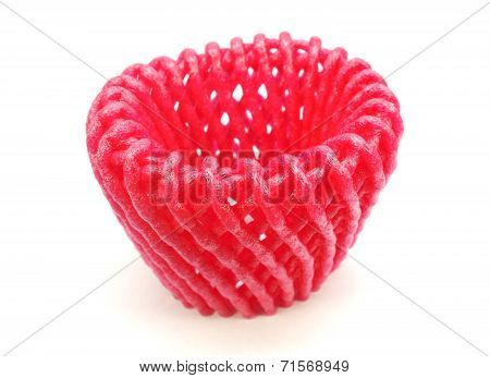 Foam Fruit Net Isolated On White Background