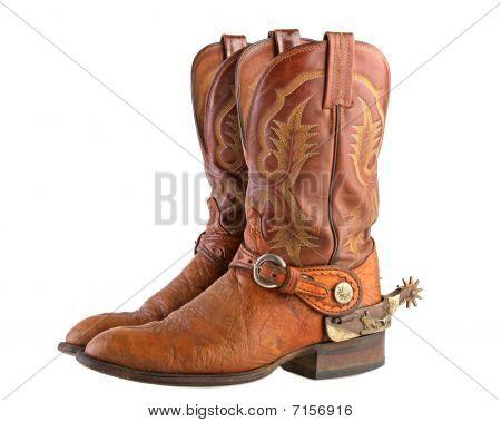 Cowboy boots & spurs
