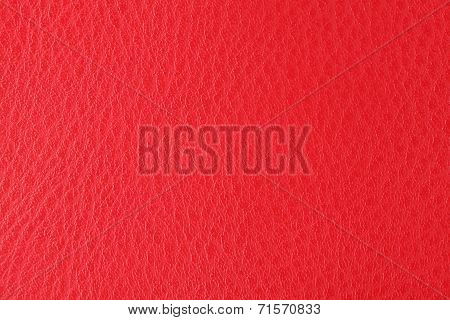 Background With Texture Of Scarlet Leather