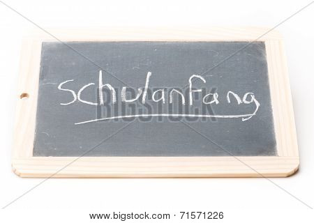 Slate Board Schulanfang