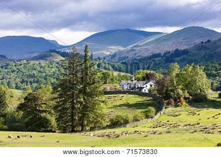 landscape of Lake District, Cumbria, England