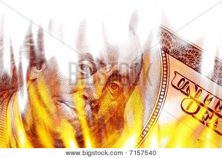 Money Ablaze In Flames