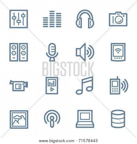 Media web icons set