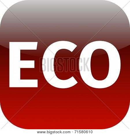Eco Red Icon - Ecology