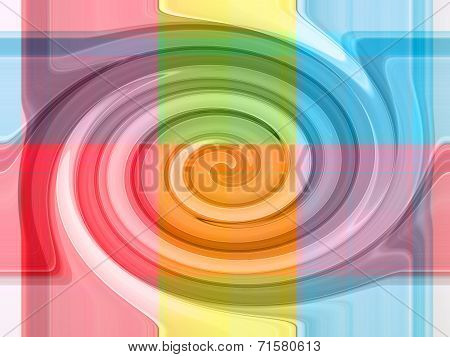 Colorful Gradient Strips Abstract Background