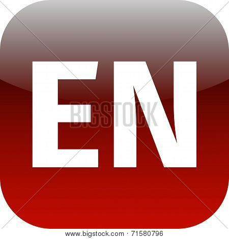En Domain Red Icon