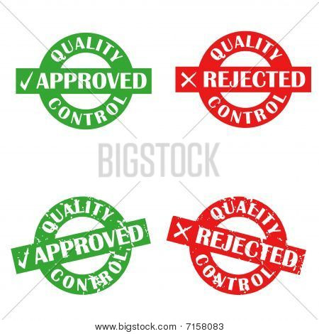 Approved and rejected stamps