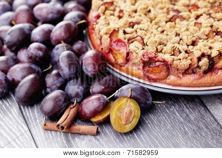 homemade plum cake - sweet food