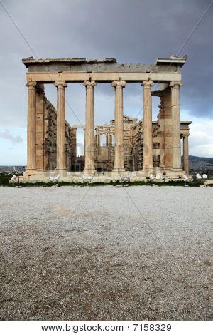 Erechtheum Is An Ancient Temple In Acropolis