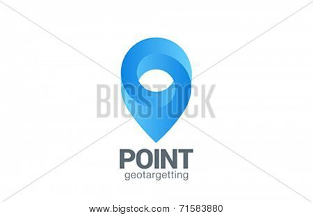Logo Location Pin map symbol vector design template. Geo point navigation logotype. Looped impossible infinite shape geographic icon.