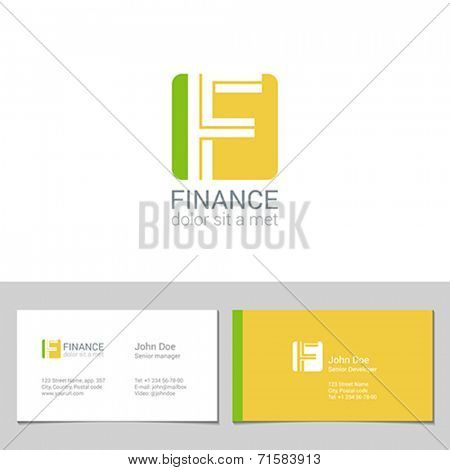 Corporate Logo F Letter company vector design template. Logotype with identity business visit card.