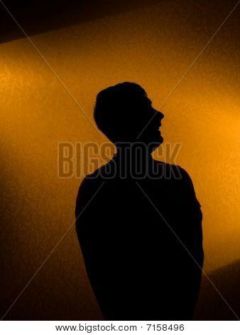 Studio Shot - Silhouette Of Man
