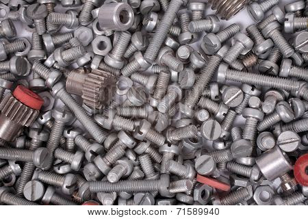 Bolts and Nuts as background