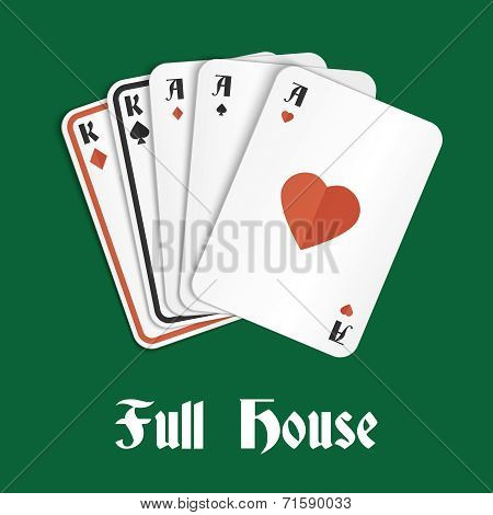 Poker hand full house
