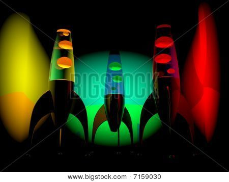 Lava lamps black