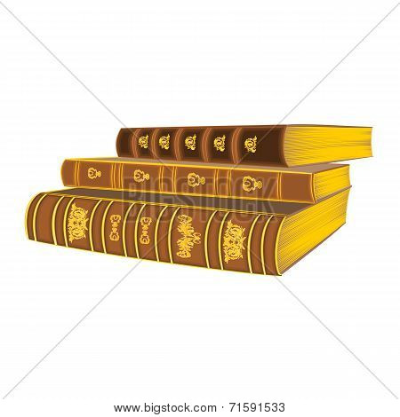 Three Old Book Vintage Vector
