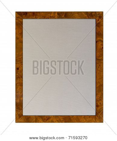 Cloth Pinboard In Shiny Wooden Frame