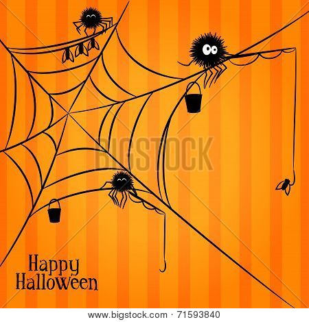 Web, spiders and fishing in Halloween style