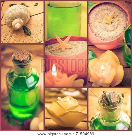 Wellness Spa Series Collage