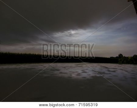 Glimpse Of Moon In A Cloudy Night