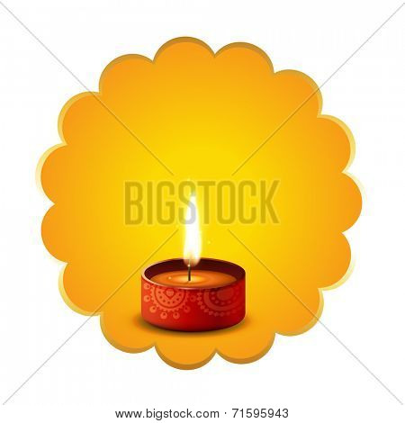 Vector hindu festival diwali diya background