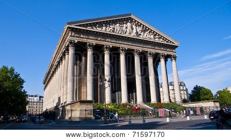 La Madeleine Church. Paris. France.