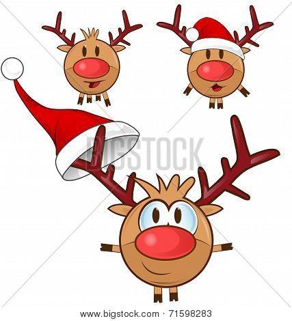 Reindeer Cartoon Set