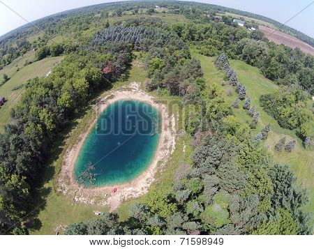 Blue Pond Aerial View