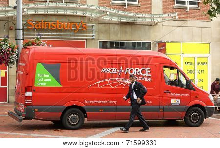 Parcelforce Delivery Van