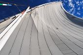 picture of north sudan  - Sails of an Egyptian Felucca along the Nile River - JPG