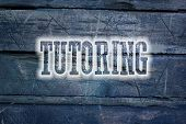 stock photo of tutor  - Tutoring Concept text on background sign idea - JPG