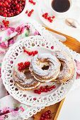 stock photo of cream puff  - Cream puff rings  - JPG