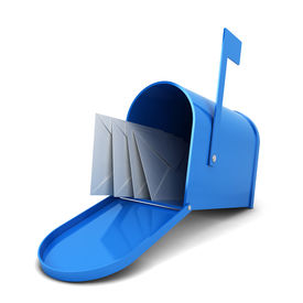 stock photo of mailbox  - Mailbox with letters - JPG
