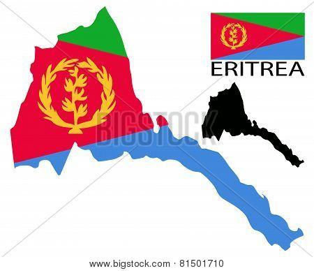 Eritrea - Map and flag
