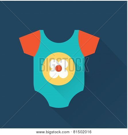 Baby onesie vector flat style