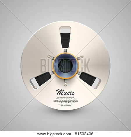 Vector metal music bobine