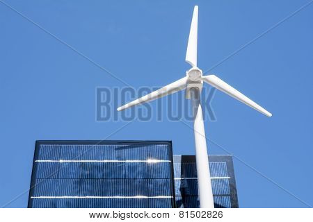 Wind power and solar panel